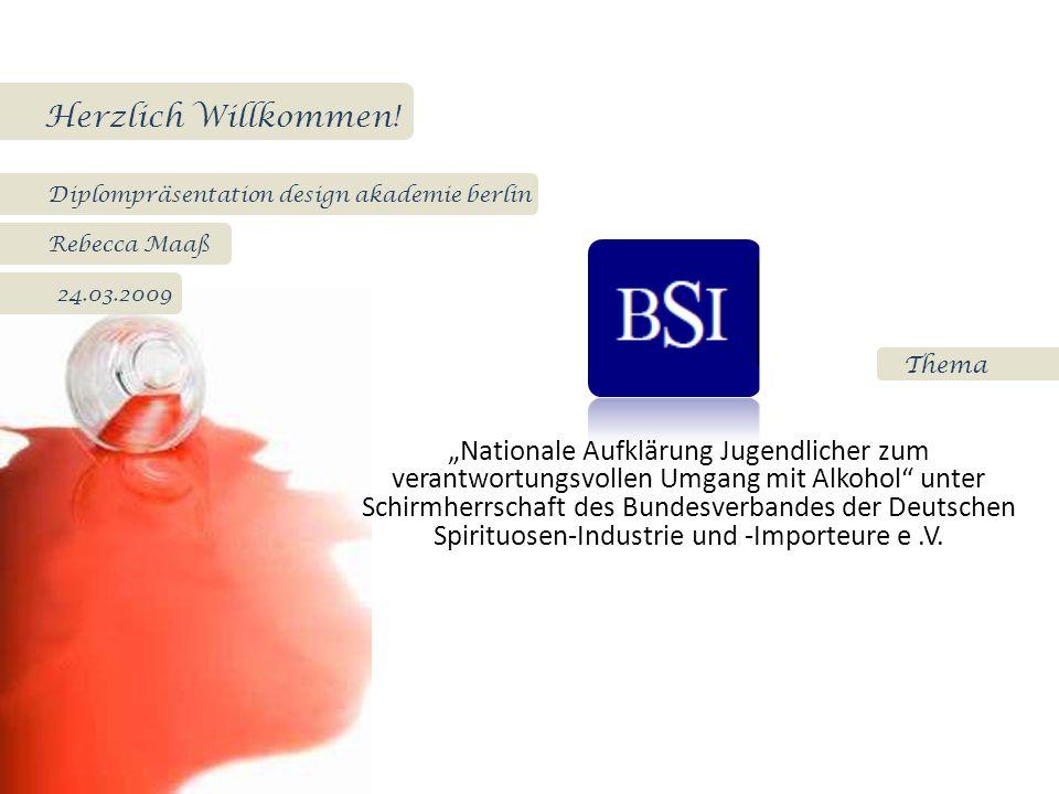 """Thema Herzlich Willkommen! Diplompräsentation design akademie berlin Rebecca Maaß 24.03.2009 """"Nationale Aufklärung Jugendlicher zum verantwortungsvoll"""