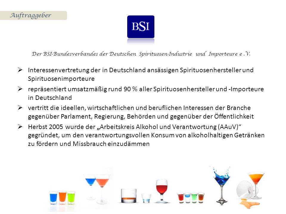 Auftraggeber Der BSI-Bundesverbandes der Deutschen Spirituosen-Industrie und Importeure e.V.  Interessenvertretung der in Deutschland ansässigen Spir