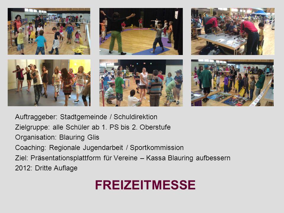 FREIZEITMESSE Auftraggeber: Stadtgemeinde / Schuldirektion Zielgruppe: alle Schüler ab 1.