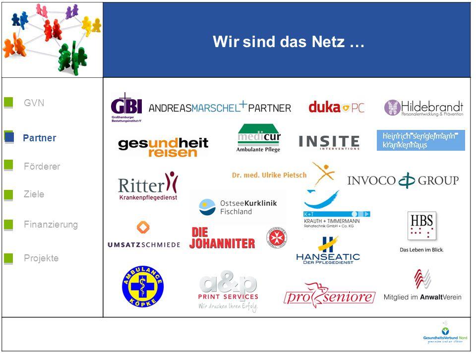 Grafik H 3,99 * B 5,38 Förderer Ziele Finanzierung GVN Projekte Partner 17 Und wann dürfen wir Sie im Verbund begrüßen.