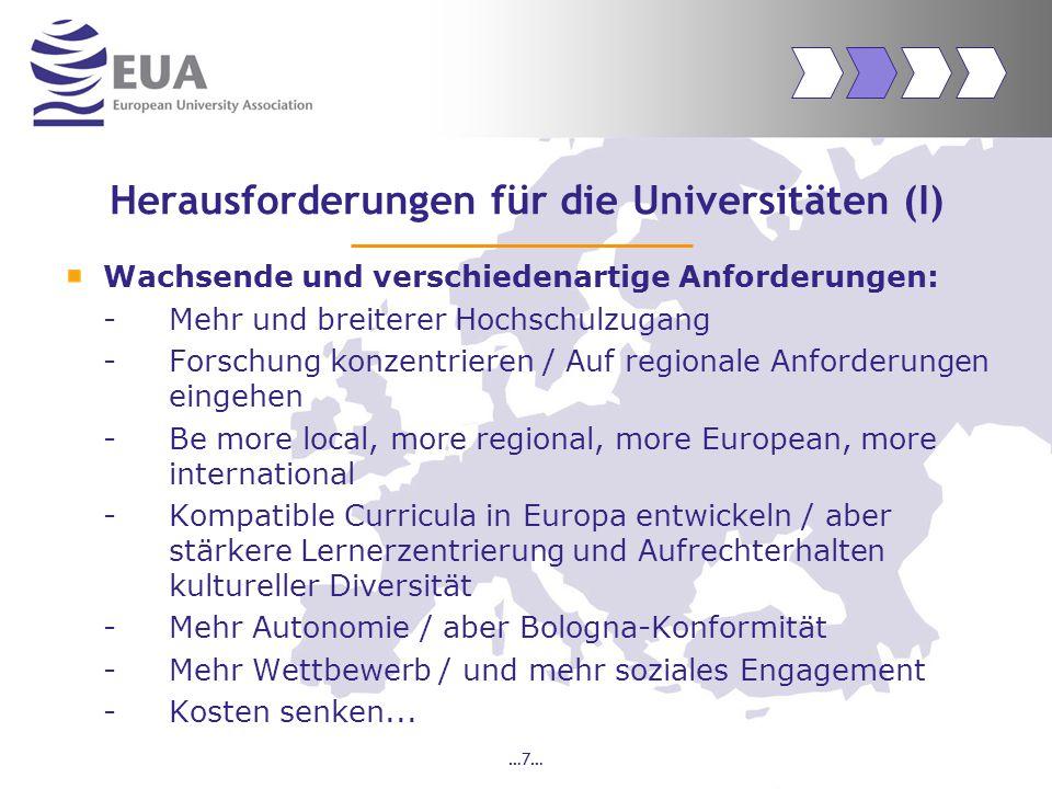 …18… Für mehr Informationen: www.eua.be Januar 2005: 25,000 Besucher (Verdreifachung gegenüber Vorjahr) Alle zwei Wochen: EUA Newsletter.