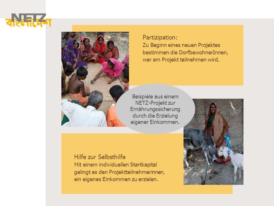 Partizipation: Zu Beginn eines neuen Projektes bestimmen die DorfbewohnerInnen, wer am Projekt teilnehmen wird. Hilfe zur Selbsthilfe Mit einem indivi