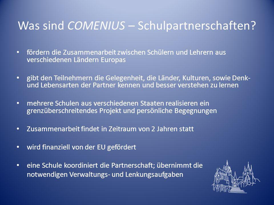 Was sind COMENIUS – Schulpartnerschaften.