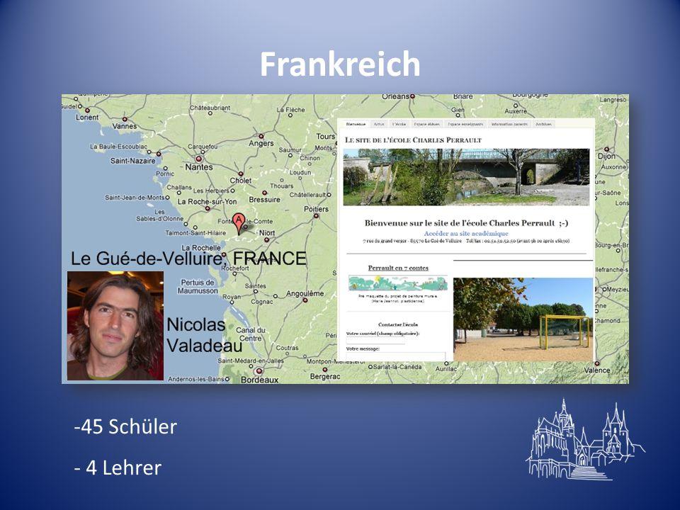Frankreich -45 Schüler - 4 Lehrer