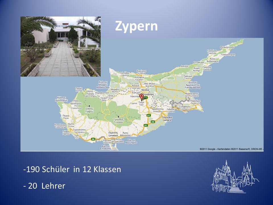 Zypern -190 Schüler in 12 Klassen - 20 Lehrer