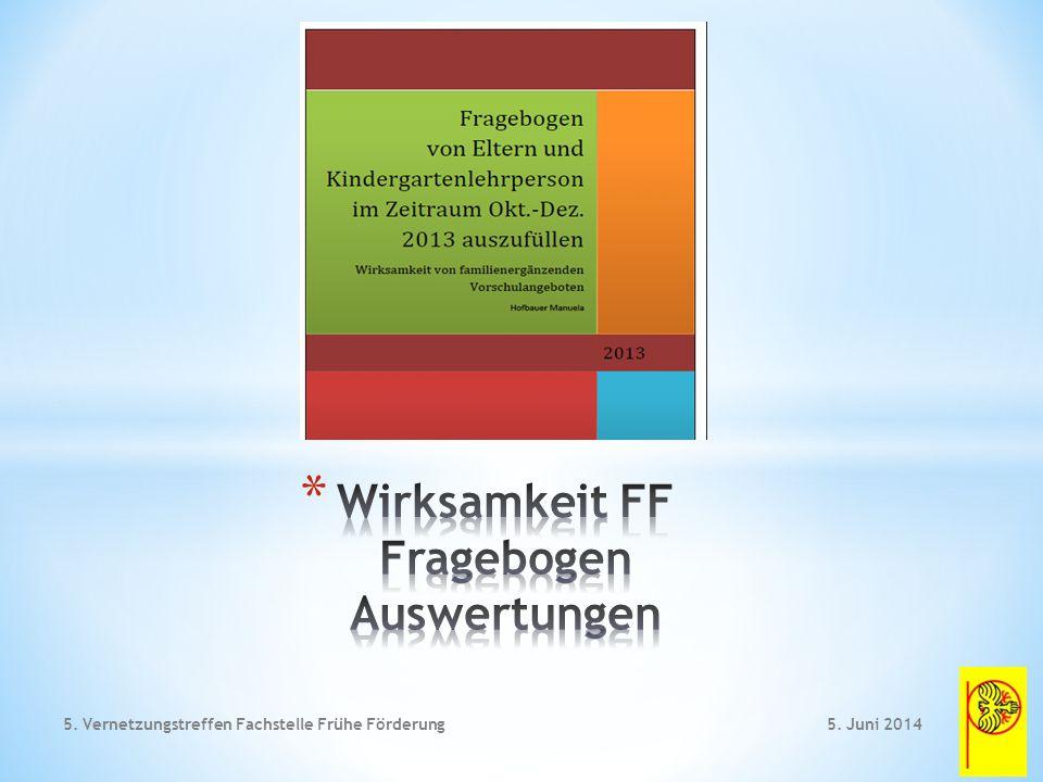 5. Juni 20145. Vernetzungstreffen Fachstelle Frühe Förderung