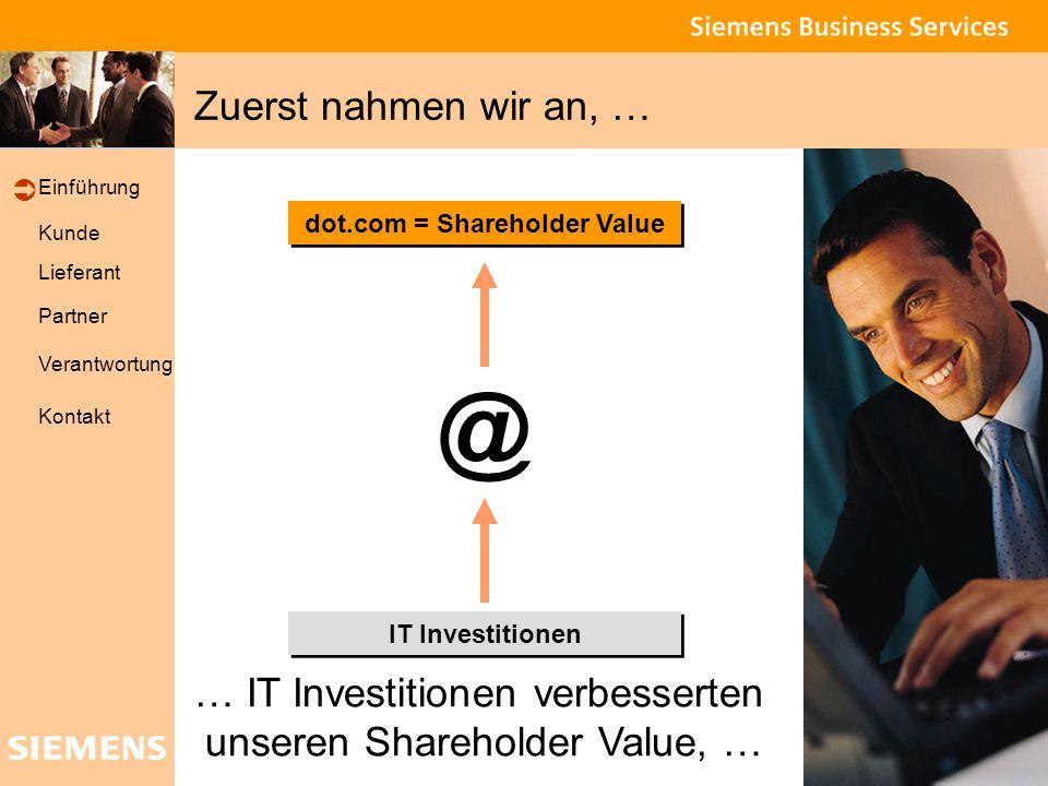 Global network of innovation Kunde Lieferant Partner Verantwortung Einführung Kontakt … dann waren wir sicher … Shareholder Value IT Investitionen Produktivität @ … dass IT Investitionen unsere Produktivität erhöhen … 