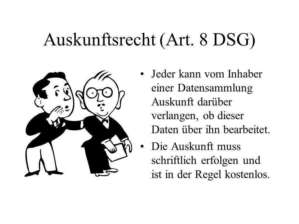 Auskunftsrecht (Art.