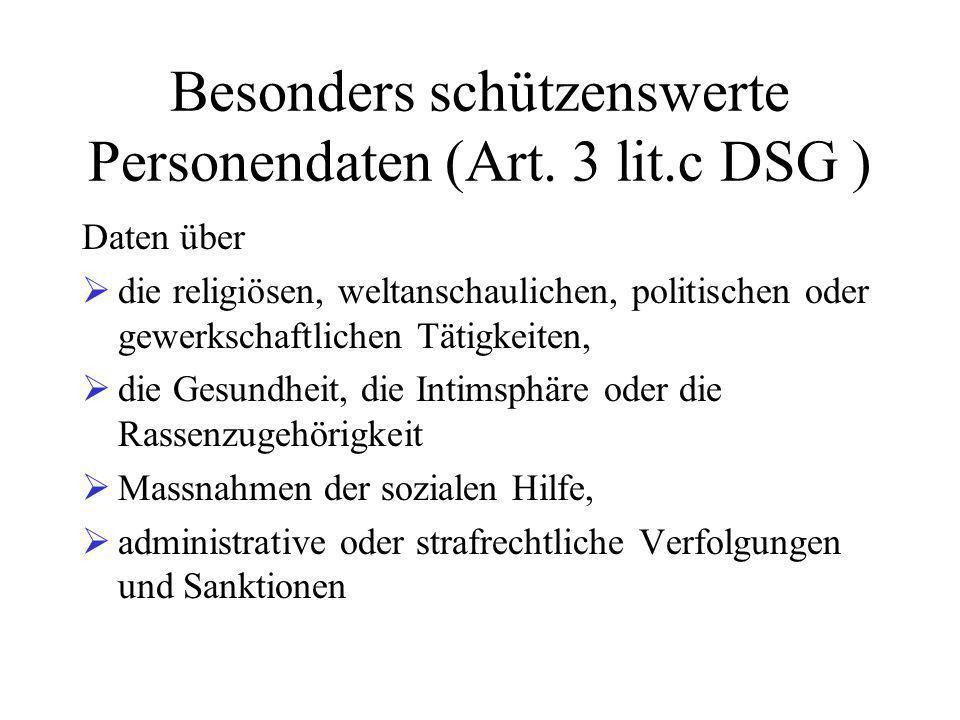 Besonders schützenswerte Personendaten (Art.