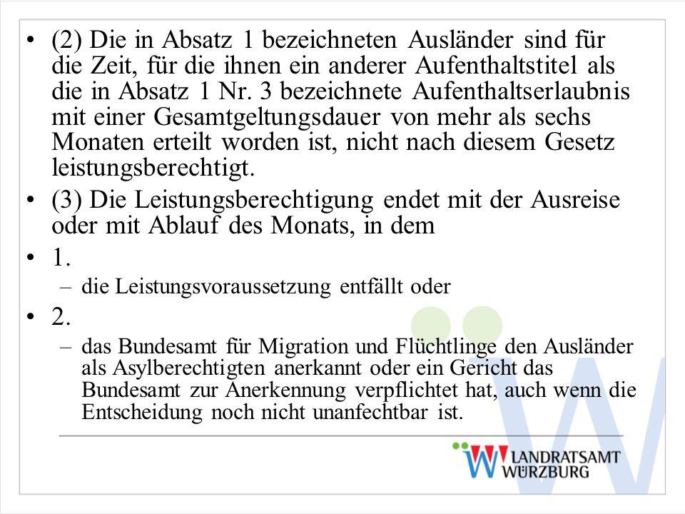 (2) Die in Absatz 1 bezeichneten Ausländer sind für die Zeit, für die ihnen ein anderer Aufenthaltstitel als die in Absatz 1 Nr. 3 bezeichnete Aufenth