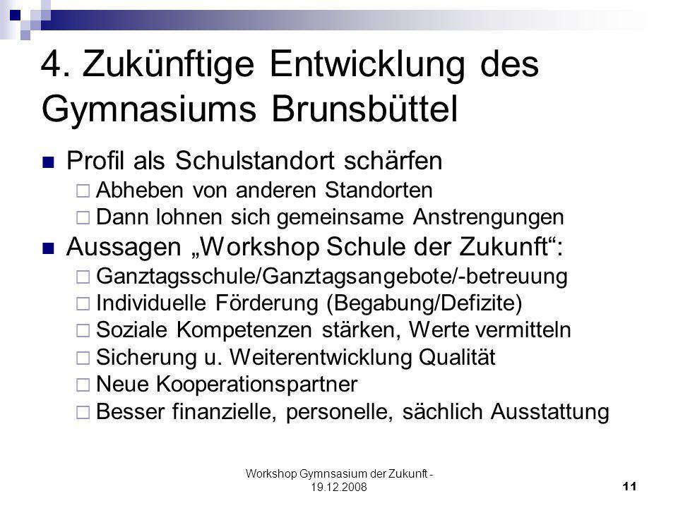 Workshop Gymnsasium der Zukunft - 19.12.200811 4.