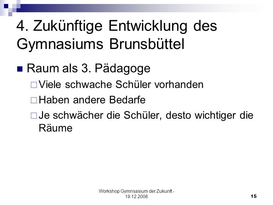 Workshop Gymnsasium der Zukunft - 19.12.200815 4.