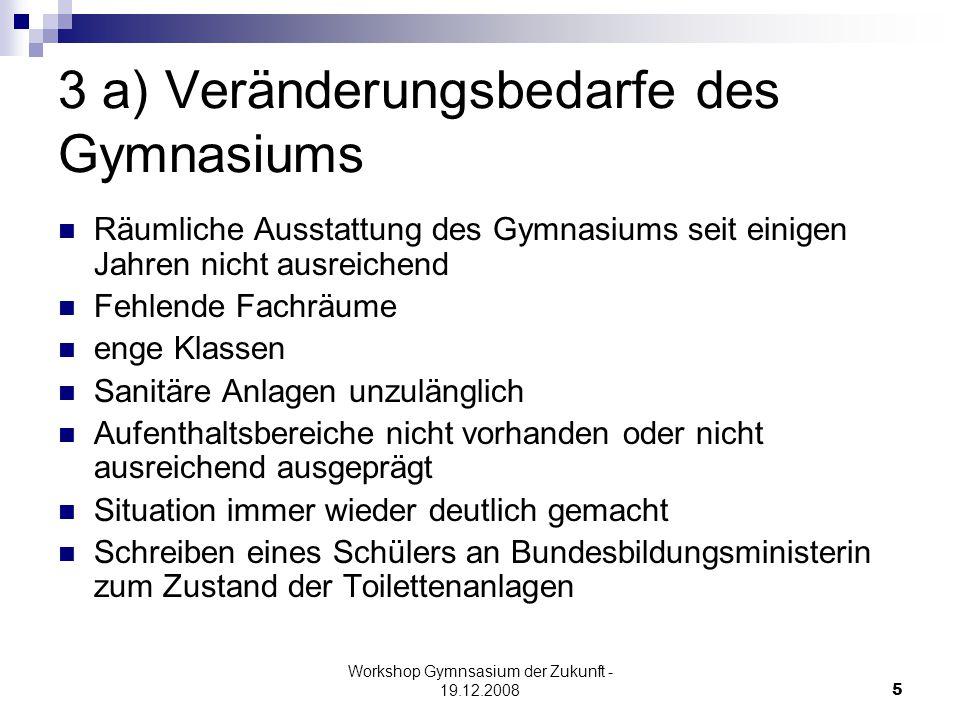 Workshop Gymnsasium der Zukunft - 19.12.200816 4.