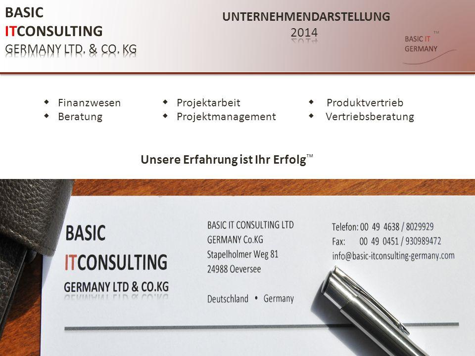 ™ UNTERNEHMENSDATEN: BASIC ITCONSULTING GERMANY LTD.