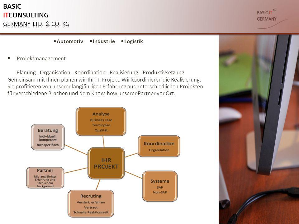 ™  Projektmanagement Planung - Organisation - Koordination - Realisierung - Produktivsetzung Gemeinsam mit Ihnen planen wir Ihr IT-Projekt. Wir koord