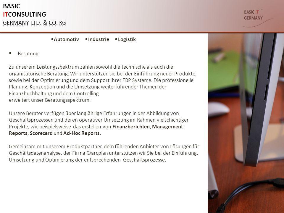 ™  Beratung Zu unserem Leistungsspektrum zählen sowohl die technische als auch die organisatorische Beratung. Wir unterstützen sie bei der Einführung