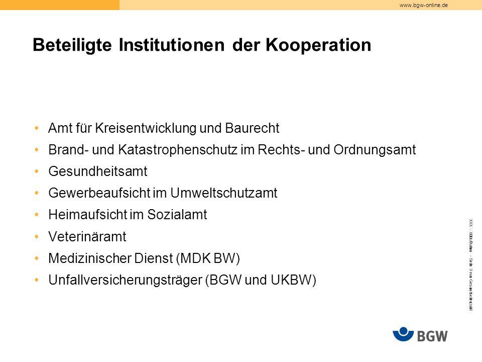 www.bgw-online.de Amt für Kreisentwicklung und Baurecht Brand- und Katastrophenschutz im Rechts- und Ordnungsamt Gesundheitsamt Gewerbeaufsicht im Umw
