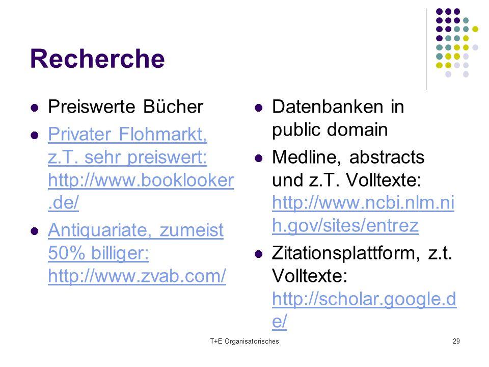 Recherche Preiswerte Bücher Privater Flohmarkt, z.T. sehr preiswert: http://www.booklooker.de/ Privater Flohmarkt, z.T. sehr preiswert: http://www.boo