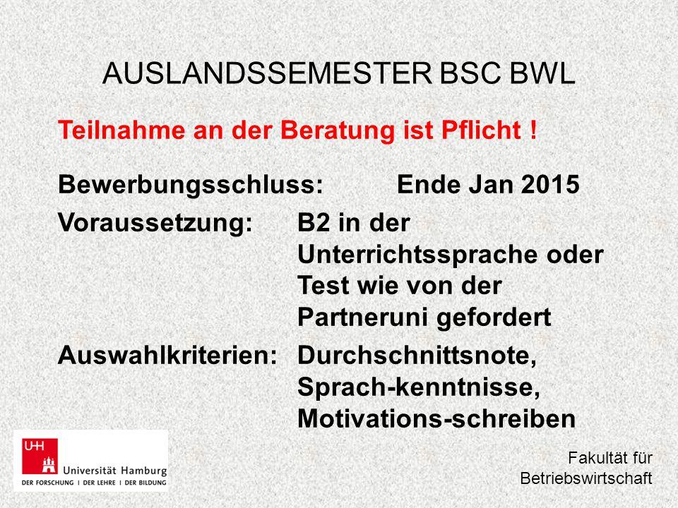 AUSLANDSSEMESTER BSC BWL 2.