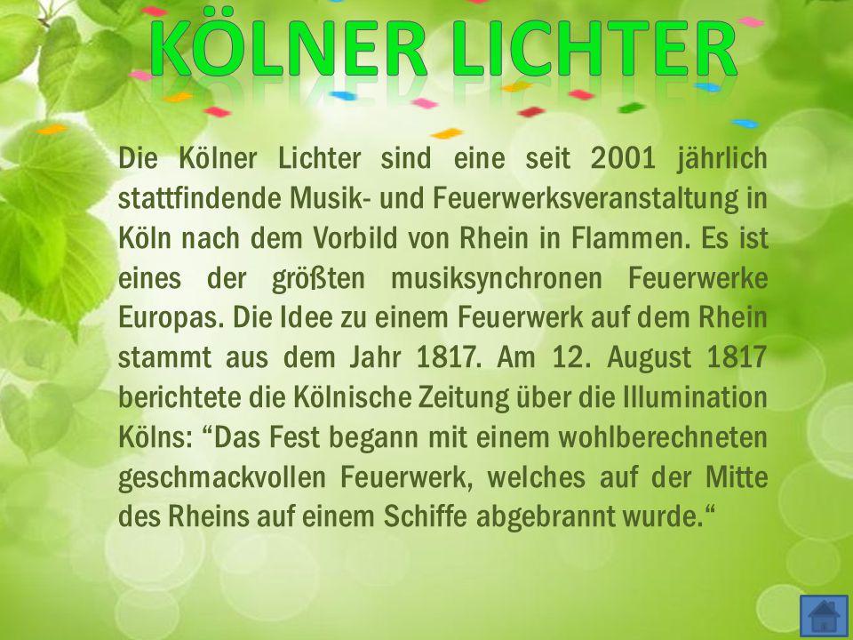 """Köln Licht Fest Fest """"Kölner Lichter"""""""