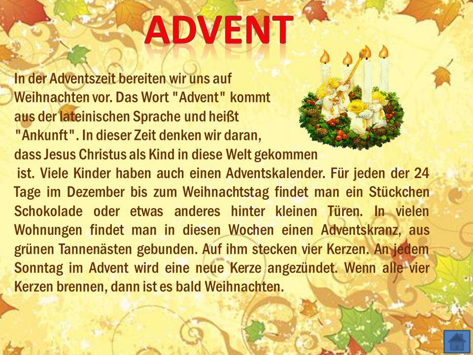 Man zündet eine neue Kerze und feiert am 2. Sonntag am 1. Sonntag am 3. Sonntag am 4. Sonntag Advent