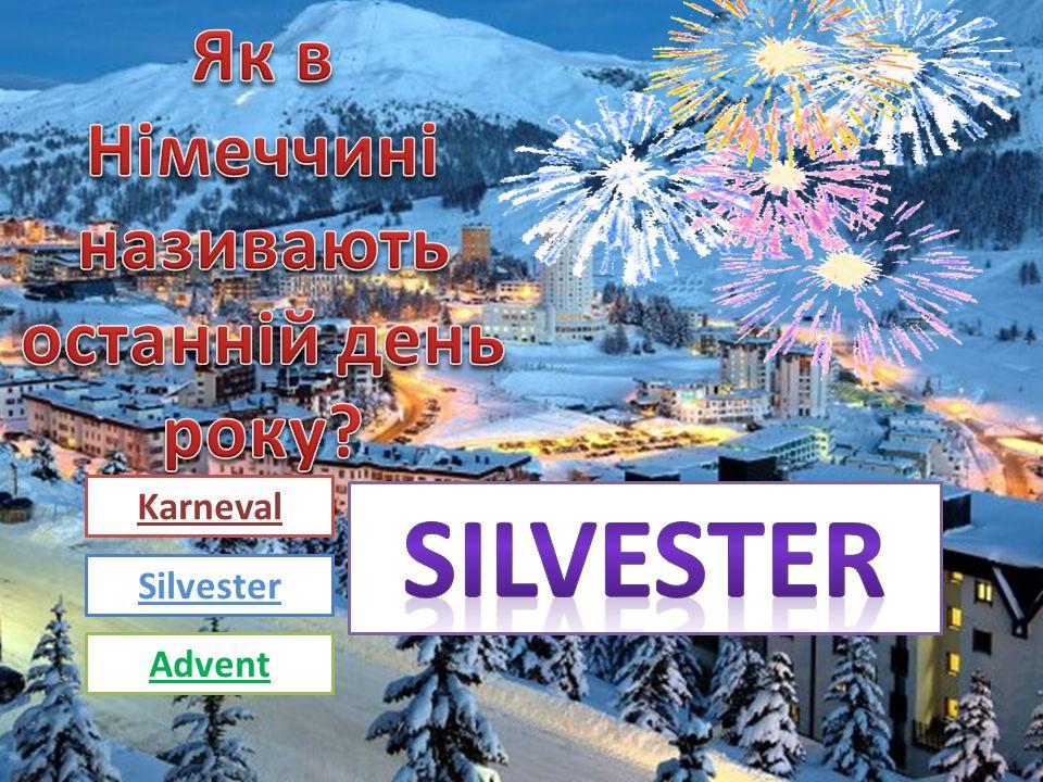 Karneval Silvester Advent