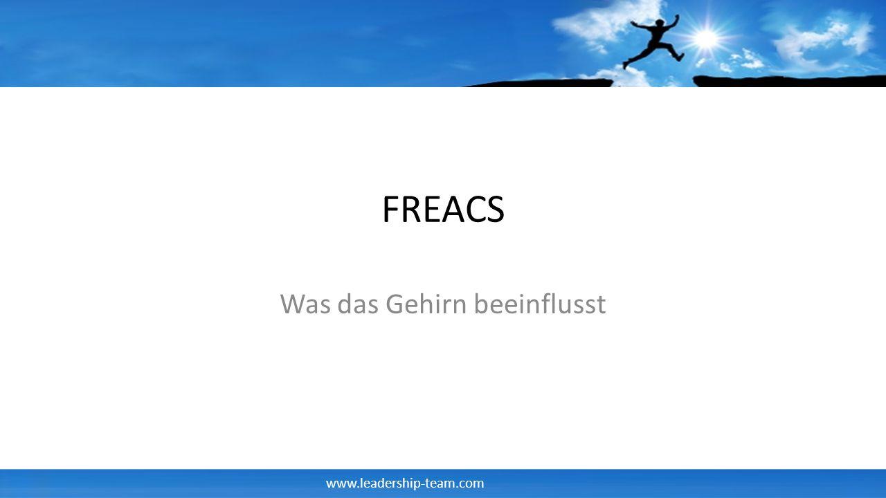 www.leadership-team.com FREACS Was das Gehirn beeinflusst