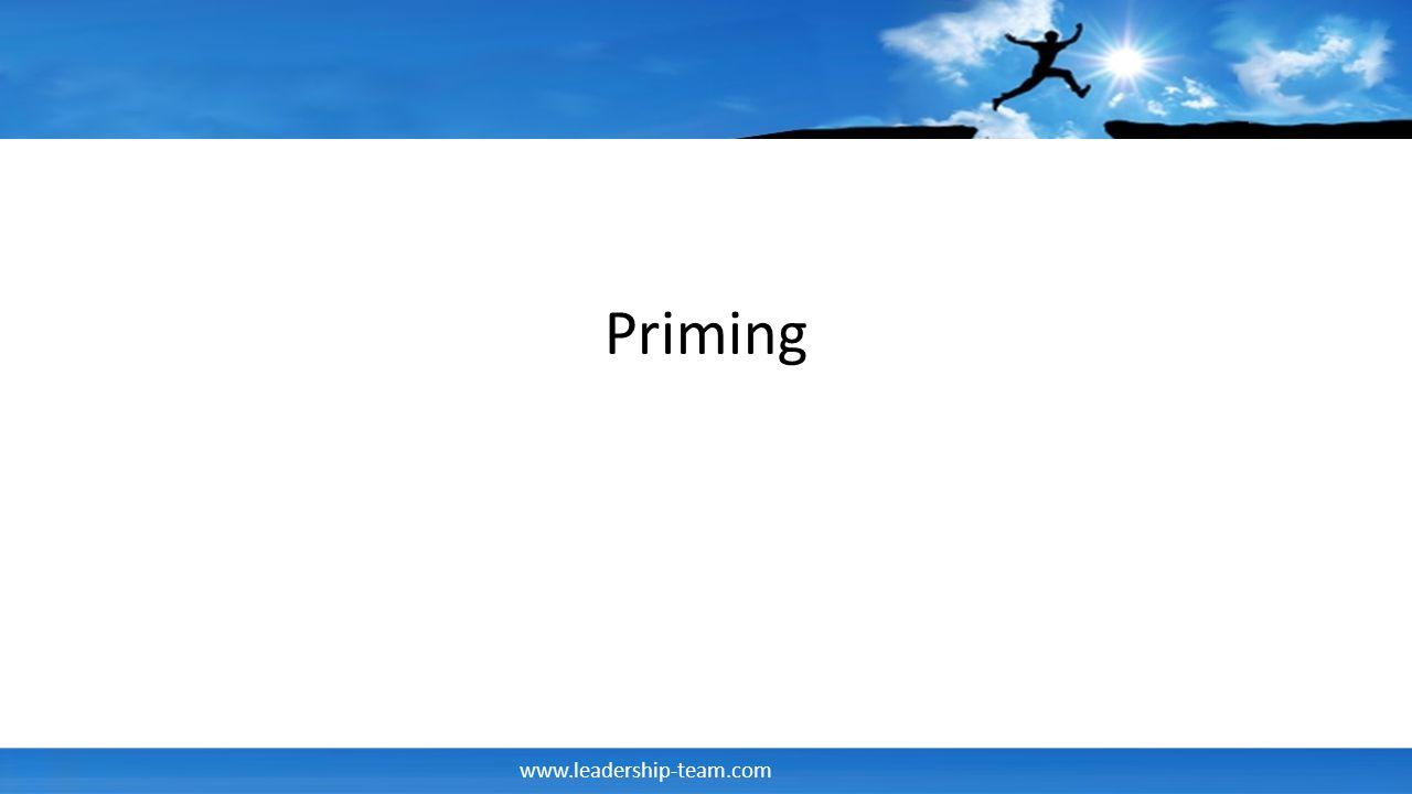 www.leadership-team.com Priming