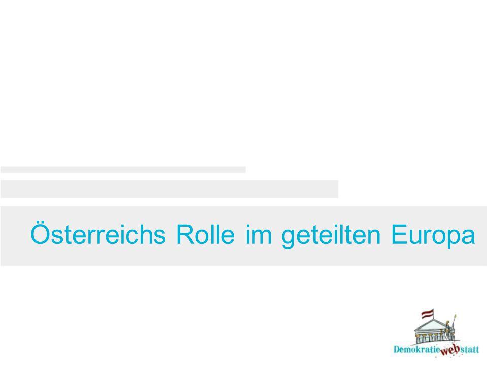 Österreichs Rolle im geteilten Europa