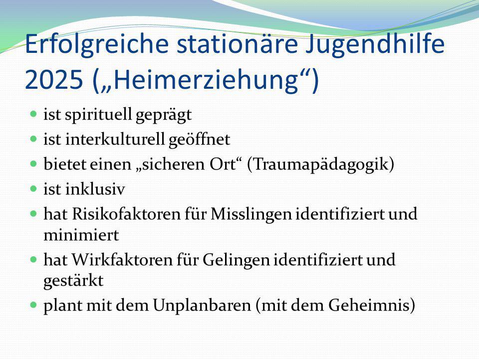 """Erfolgreiche stationäre Jugendhilfe 2025 (""""Heimerziehung"""") ist spirituell geprägt ist interkulturell geöffnet bietet einen """"sicheren Ort"""" (Traumapädag"""