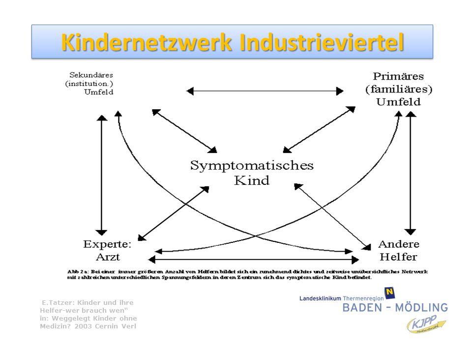 """Kindernetzwerk Industrieviertel E.Tatzer: Kinder und ihre Helfer-wer brauch wen"""" in: Weggelegt Kinder ohne Medizin? 2003 Cernin Verl"""