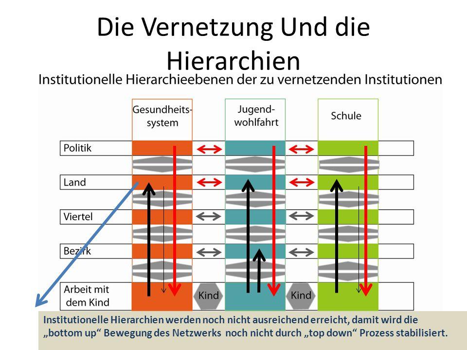 """Die Vernetzung Und die Hierarchien Institutionelle Hierarchien werden noch nicht ausreichend erreicht, damit wird die """"bottom up"""" Bewegung des Netzwer"""