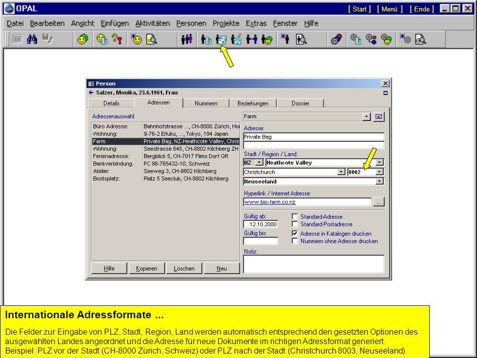 Integration der Personen Details mit Aktivitäten (Dokumenten)...