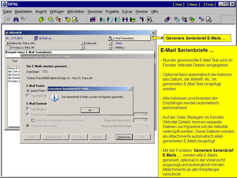 E-Mail Serienbriefe... - Für E-Mail Serienbriefe wird nur die Option '@ E-Mail' gesetzt.