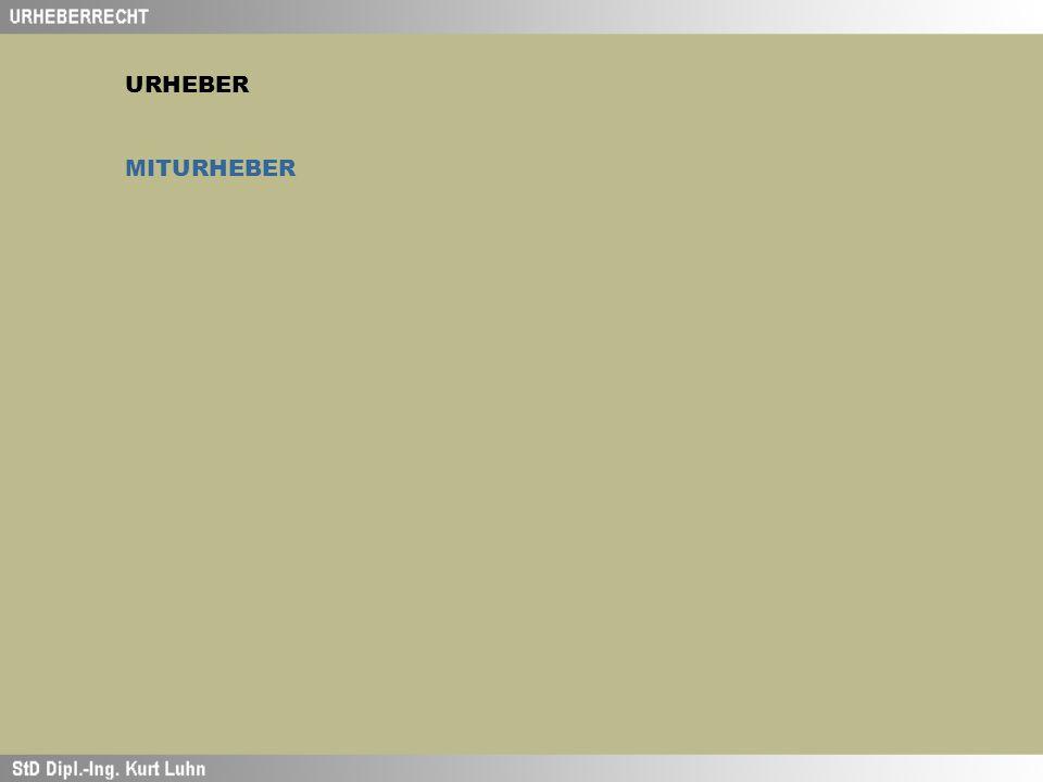 URHEBER MITURHEBER