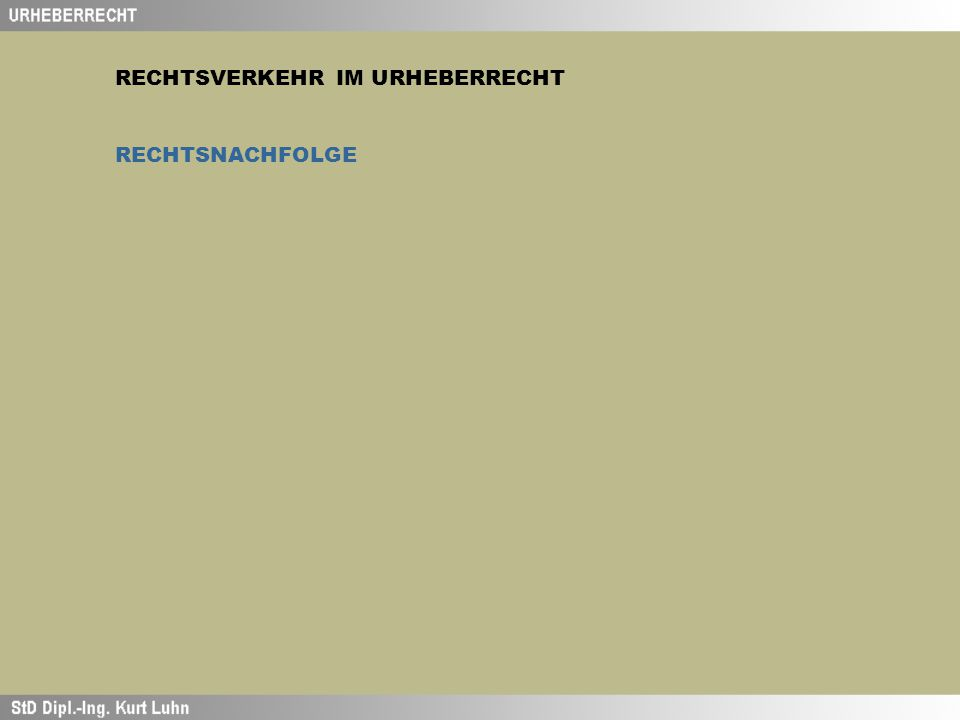 RECHTSNACHFOLGE