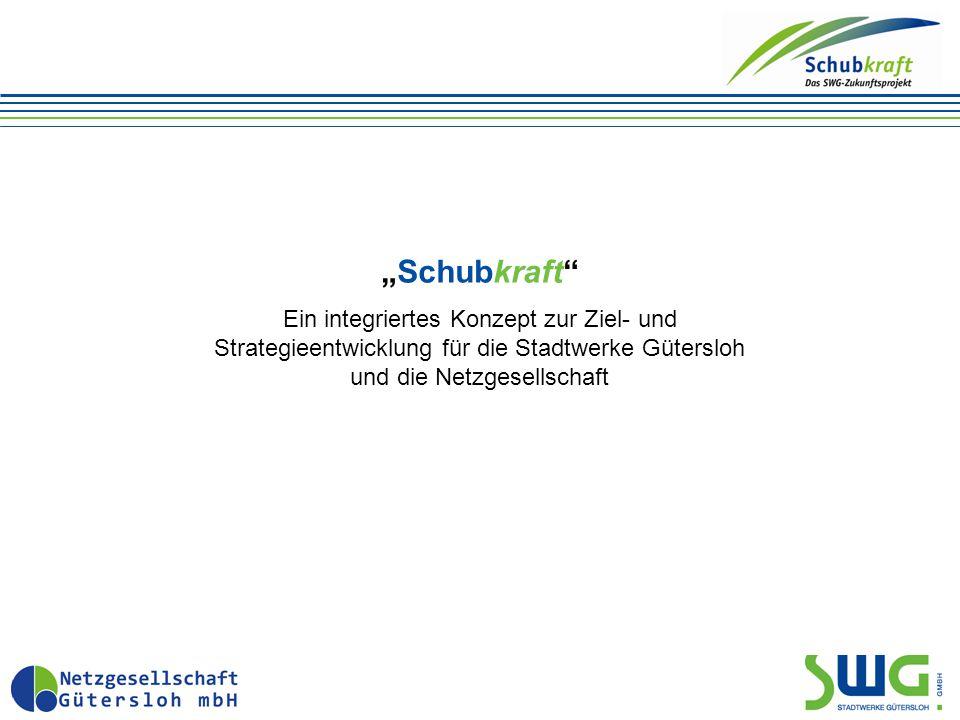 """""""Schubkraft Ein integriertes Konzept zur Ziel- und Strategieentwicklung für die Stadtwerke Gütersloh und die Netzgesellschaft"""