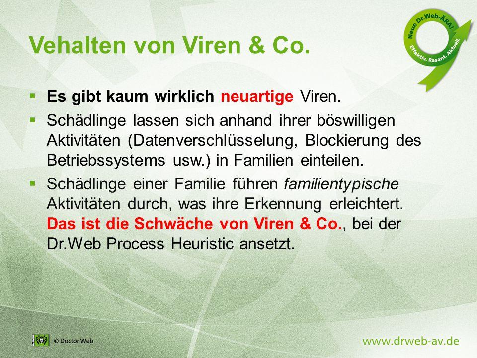 Vehalten von Viren & Co. Es gibt kaum wirklich neuartige Viren.