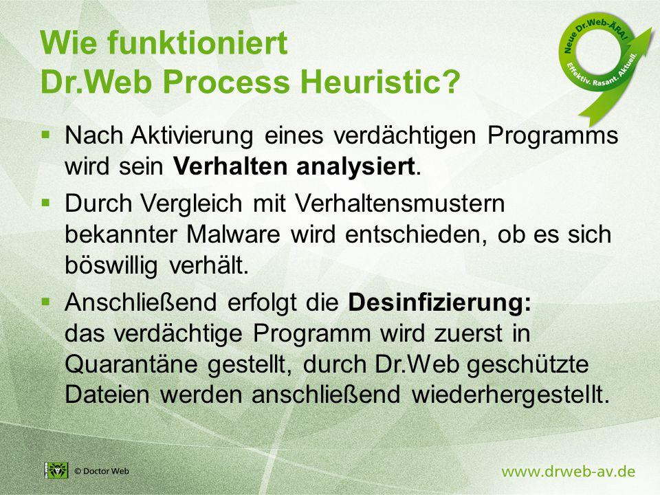 Wie funktioniert Dr.Web Process Heuristic.