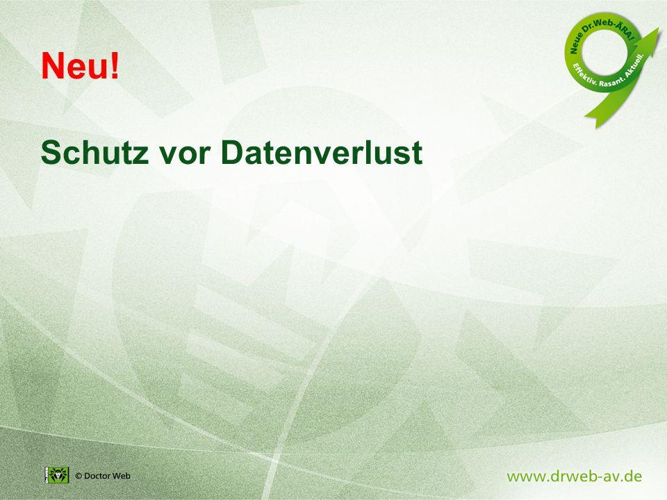 Neu! Schutz vor Datenverlust