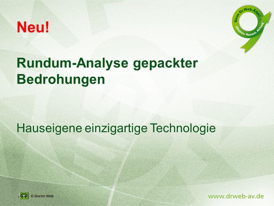 Neu! Rundum-Analyse gepackter Bedrohungen Hauseigene einzigartige Technologie