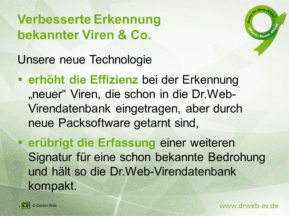 Verbesserte Erkennung bekannter Viren & Co.
