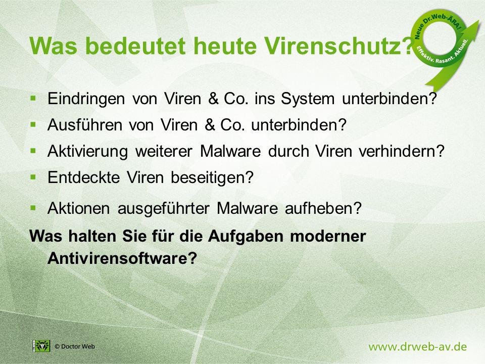 Was bedeutet heute Virenschutz.  Eindringen von Viren & Co.