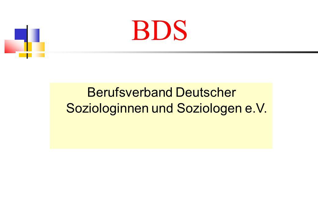 BDS Berufsverband Deutscher Soziologinnen und Soziologen e.V.