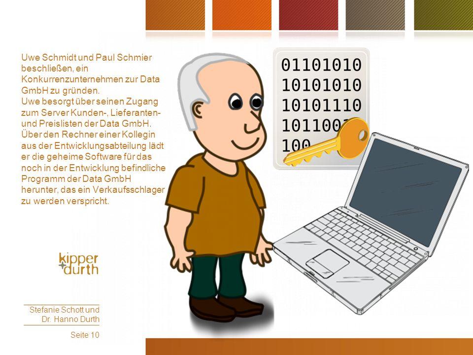 Uwe Schmidt und Paul Schmier beschließen, ein Konkurrenzunternehmen zur Data GmbH zu gründen.