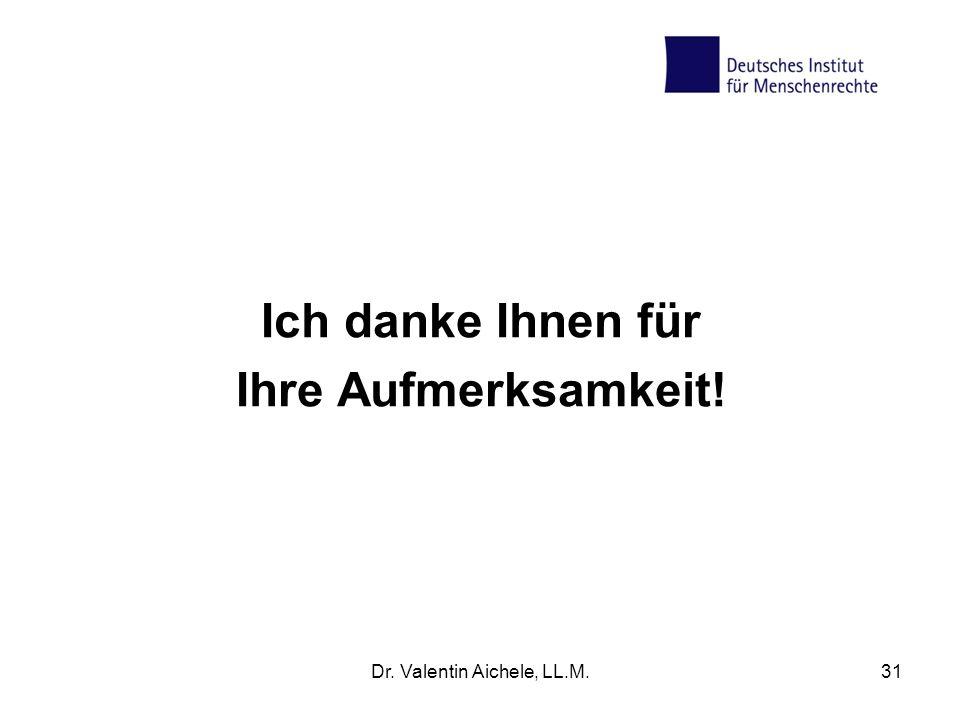 Dr. Valentin Aichele, LL.M.31 Ich danke Ihnen für Ihre Aufmerksamkeit!