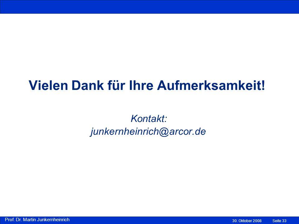 Prof.Dr. Martin Junkernheinrich Vielen Dank für Ihre Aufmerksamkeit.