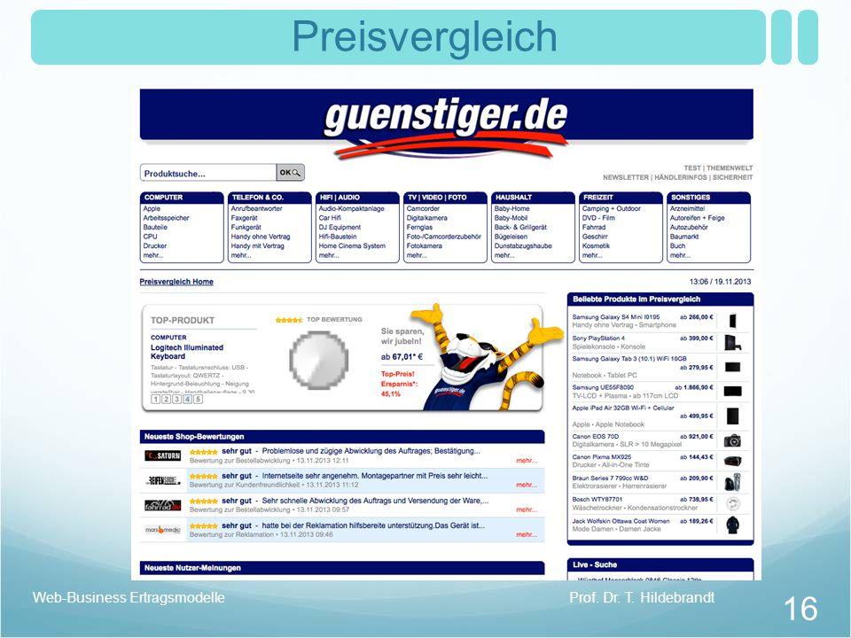 Preisvergleich Prof. Dr. T. HildebrandtWeb-Business Ertragsmodelle 16