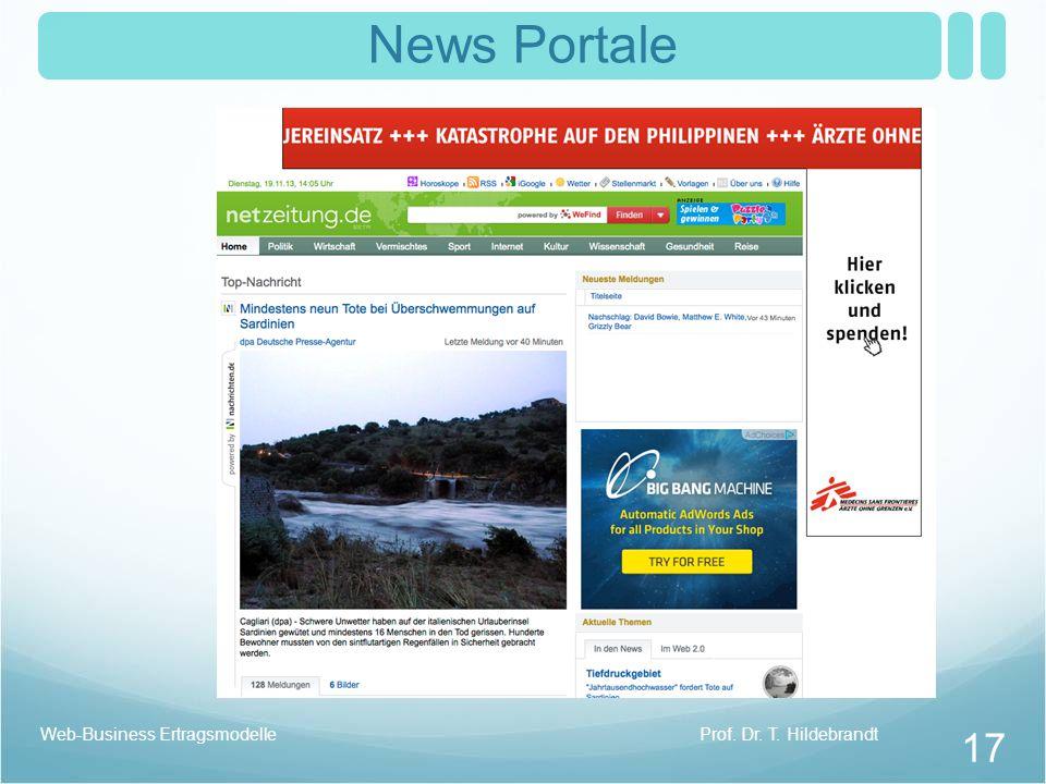 News Portale Prof. Dr. T. HildebrandtWeb-Business Ertragsmodelle 17