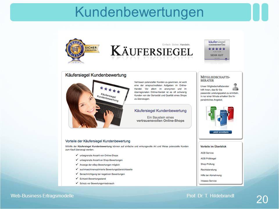 Kundenbewertungen Prof. Dr. T. HildebrandtWeb-Business Ertragsmodelle 20